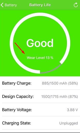 melihat kesehatan baterai iphone