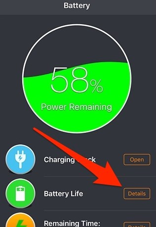 melihat kondisi baterai iphone 2