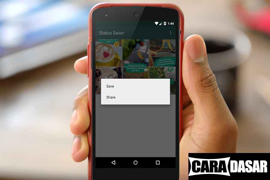 Cara Download Foto dan Video Status Story WhatsApp di Android