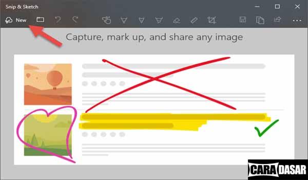 Cara Screenshot di Windows 10 menggunakan Snip & Sketch