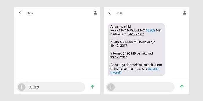 Cara Cek Kuota Internet Telkomsel Simpati via SMS