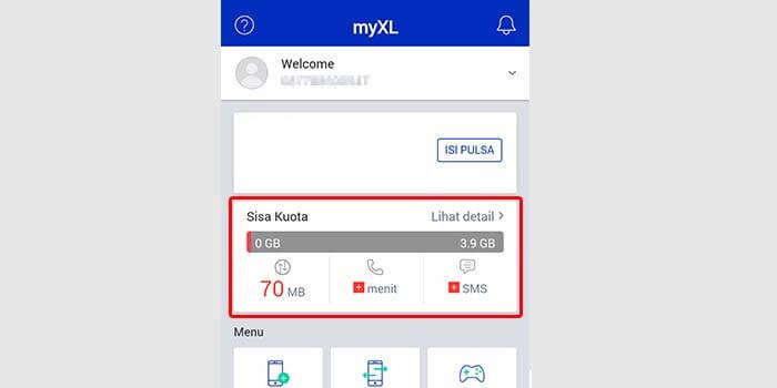 Cara Cek Kuota Internet di Aplikasi MyXL