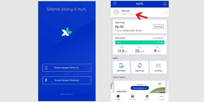Cara Cek Nomor XL di Aplikasi MyXL